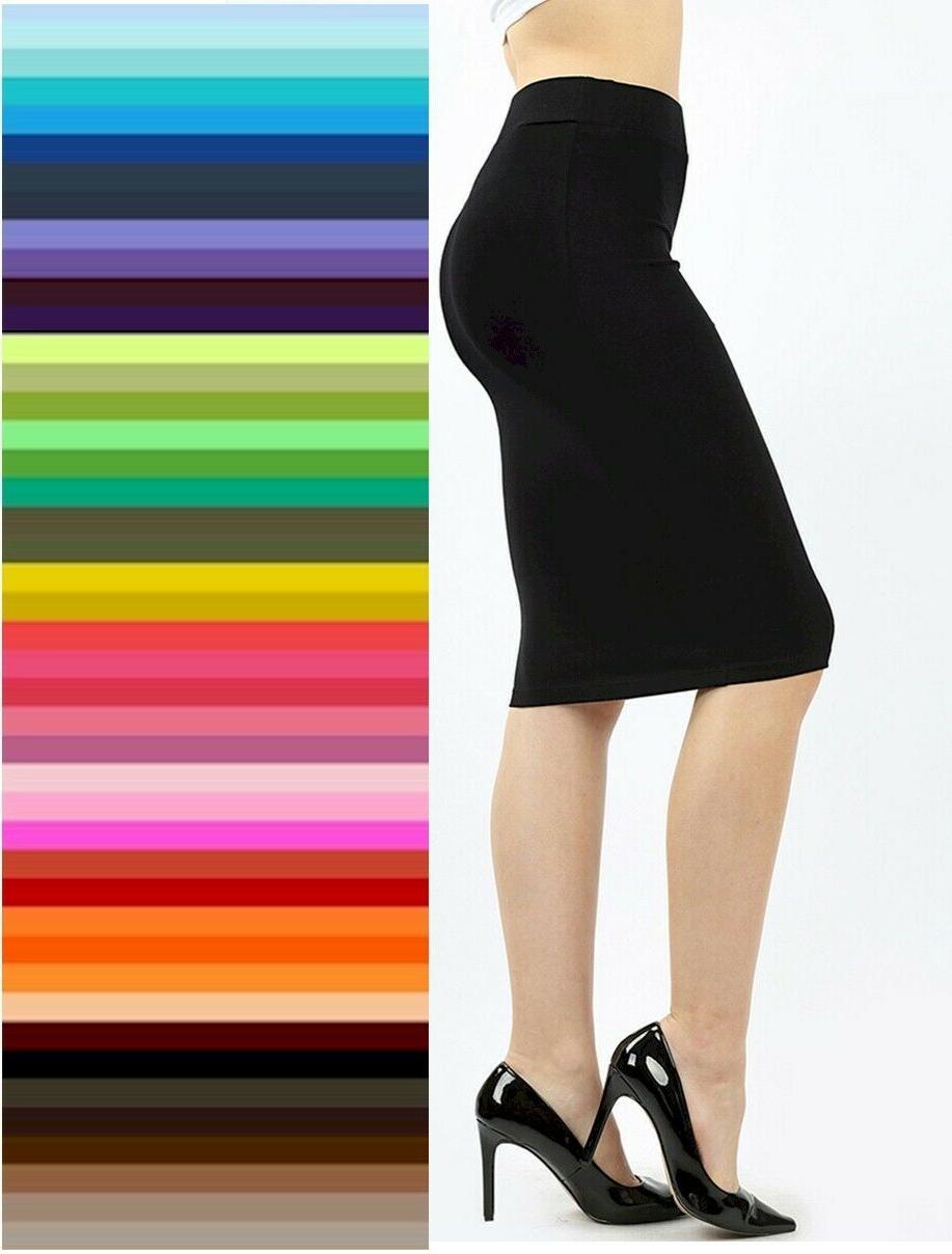 pencil knee skirt bodycon high waist premium