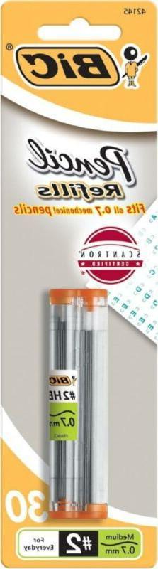 BIC Pencil Lead Refills, Medium Point , 30ct