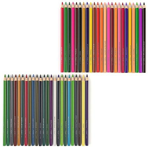 ARTEZA Pencils of with Color shaped, Pre sharpened, Soft Wax-Based Cores, Art, Sketching, Coloring, Vibrant Artist for Begin