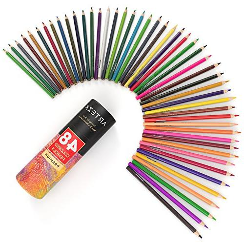 ARTEZA Pencils Set of Colors Pre sharpened, Cores, Ideal for Art, Coloring, Artist for Begin
