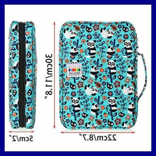 BTSKY Portable Colored Case 166 Pencils 112 Pens L