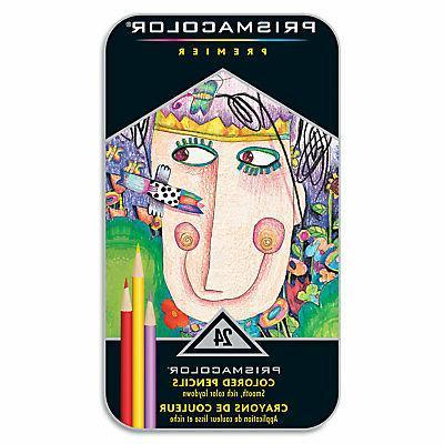 prismacolor premier colored woodcase pencils 24 assorted