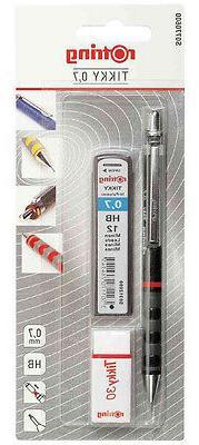 Rotring Tikky Black 0.7mm Pencil Leads Eraser Set Super Rubb