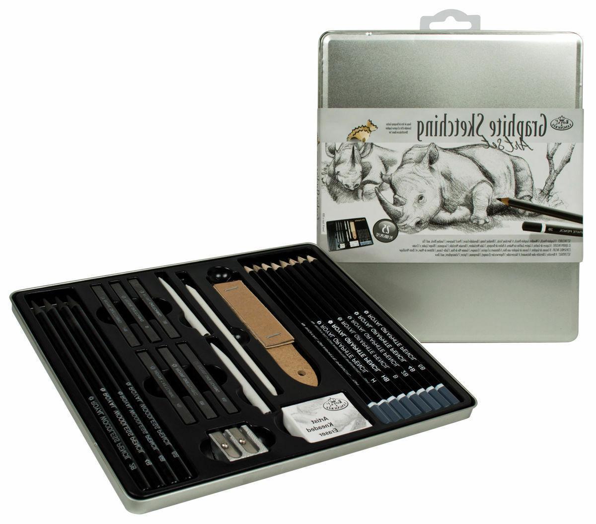 tin graphite sketching set