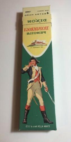 Vintage Dixon Ticonderoga Pencils 1388 One Dozen #4 Extra Ha
