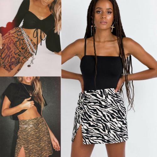 Womens Leopard Skirt Ladies