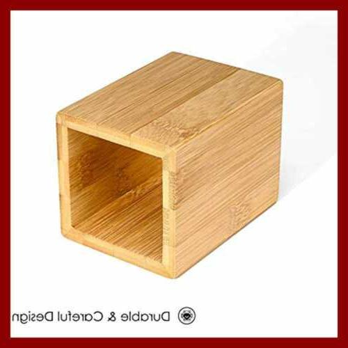 Wood Desk Pencil Holders Wooden Bamboo