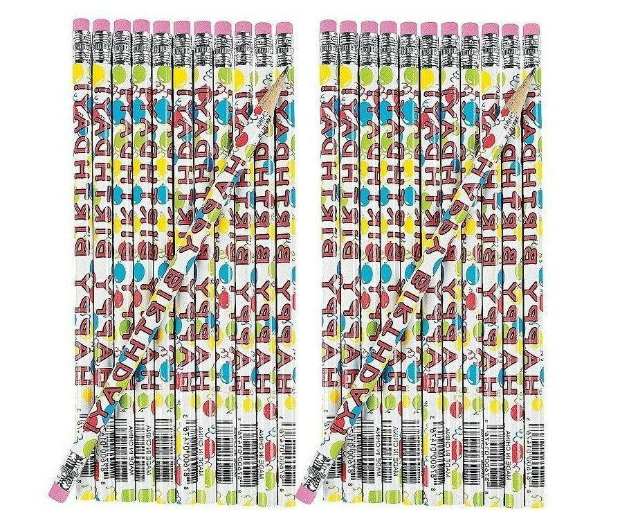 wooden happy birthday pencils 24 piece
