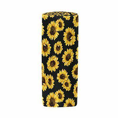 ALAZA Flower Sunflower Pencil Pen Black Floral Pencil Pouch P#49