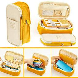 Kids Large Capacity Zipper Pencil Case Pen Pouch Bag Student