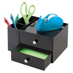 mDesign Office Supplies Desk Organizer for Scissors, Pens, M