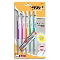 Mechanical Pencil, Refillable, Rubbergrip.9mm,5/PK, Assorted