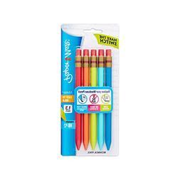 Paper Mate Mates Mechanical Pencils, 1.3mm HB #2 Lead, 5 Cou