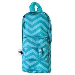 Yoobi Mini Backpack Pencil Case  Blue Chevron