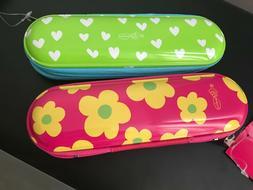 Miquelrius Metal Pencil Pouch Hearts & Flowers 2pack