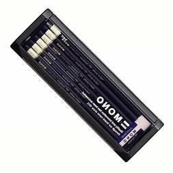 Tombow MONO 4B Pencil 1 dozen MONO-4B with Eraser Japan Free