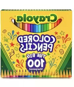 NEW Crayola colored pencils THE BIG 100 Sharpened. Eco-Evolu