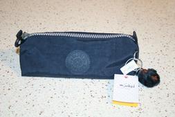 New Kipling Freedom Pencil Pen Cosmetic Case True Blue Make-