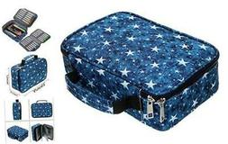New High Capacity Zipper Pens Pencil Case with Pattern-Multi