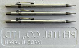 New Pentel Sharp P205, P207 & P209 Mechanical Pencil Set * M