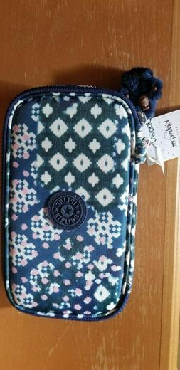 NWT Kipling 50 Pens Pencil Case Cosmetic Pouch carnival mix