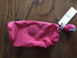 NWT Kipling Freedom Pink Pencil Case/small Makeup Bag