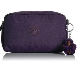 NWT Kipling Gleam Cosmetics Case pencil case in Deep Purple