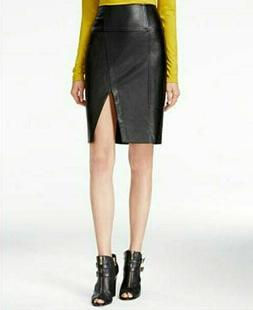 NWT GUESS Women's Jagger Faux-leather Pencil Skirt Size 8 OR