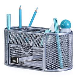 Office Supplies Desk Organizer by Mindspace, 8 Compartments