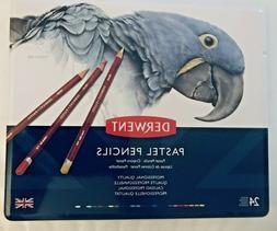 Derwent Pastel Pencils, 4mm Core, Metal Tin, 24 Count 32992
