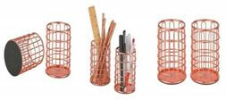 Pen Holder Wire Metal Pencil Cup For Desk Office,ROSE GOLD