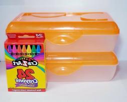 Pencil Box  & Crayola box of 24