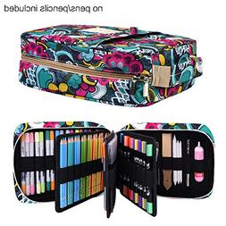 Pencil Case Holder Slot -Holds 202 Colored Pencils or 13