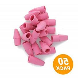 Emraw Pencil Top Erasers Pink Color Fun Mini Chisel Shaped E