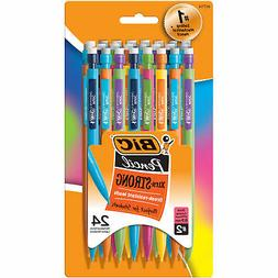 BIC Pencil Xtra Strong , Thick Point , 24-Count