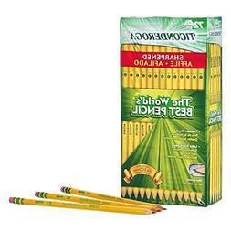TICONDEROGA Pencils, Wood-Cased #2 HB Soft, Pre-Sharpened wi
