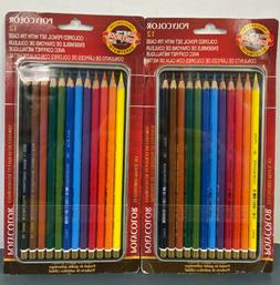 Polycolor Drawing Pencils, 3.8 mm, Open Tin Blister Pack, 12
