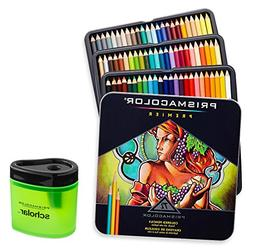 Prismacolor 3599TN Premier Soft Core 72 Colored Pencils + 17