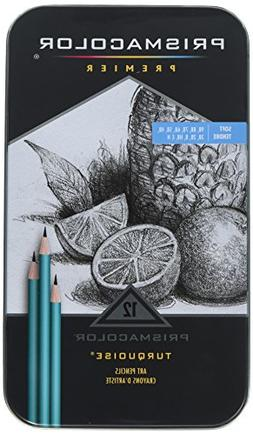 Prismacolor Premier Turquoise Graphite Pencils - 9B, 8B, 7B,