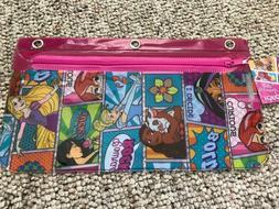 """Disney Princess   Pencil Pouch  10"""" x 5.5""""   3 Hole Case"""