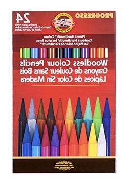 Koh-I-Noor Progresso Woodless Colored 24-Pencil Set, Assorte