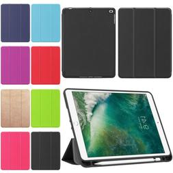 PU Leather Case with Pencil Holder For iPad 9.7 5th 6th Gene