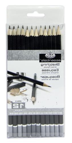 Royal & Langnickel Sketching Pencils Set 12 pc Draw Sketch A
