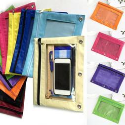 School Storage Pencil Pouch Case File Stationery Bag Binder
