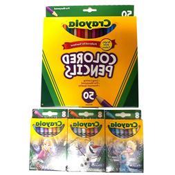 Crayola Set 50 Count Colored Pencil Set 3 Box Set Special Ed