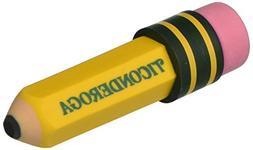 Ticonderoga Shaped Eraser, Latex-Free, 36/Box - DIX38936