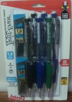 SIX Pentel Twist Erase Click Mechanical Pencils PLUS SIXTY P