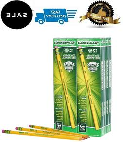 Ticonderoga Pencils, Wood-Cased, Graphite #2 HB Soft, Yellow