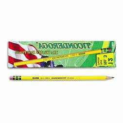 Ticonderoga 13883 Woodcase Pencil, HB #3, Yellow