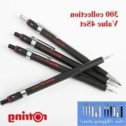 rOtring 300 2mm Holder, 0.35, 0.5, 0.7mm Pencil Set  Ship F